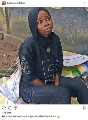 Pretty young lady runs mad after her NYSC; she now sleeps on the street, behind Fela shrine