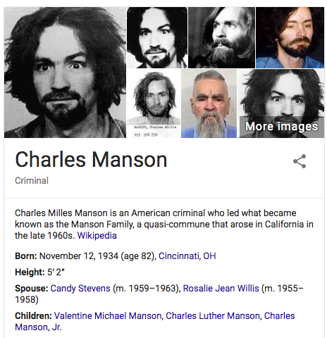 research paper on charles manson Read this essay on charles manson essay come browse our large digital warehouse of free sample essays get the knowledge you need.