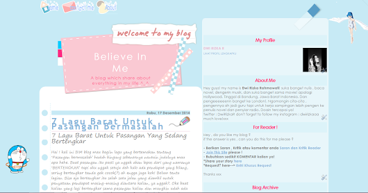 Believe In Me: Me And My Blog
