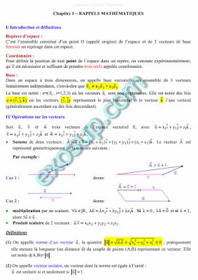 cours physique II svtu s2 mécanique ,mécanique des fluides , électricité fssm
