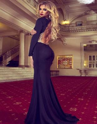 vestidos elegantes negros juveniles de moda