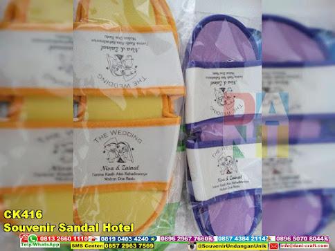 jual Souvenir Sandal Hotel