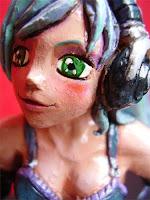 Orme Magiche manga girl action figure modellini mascotte ritratti caricature manga da colorare fatte a mano artigianato italiano