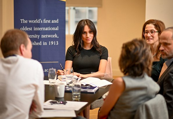 The event was held at King's College for the ACU (Association of Commonwealth Universities). Meghan Markle visited King's College