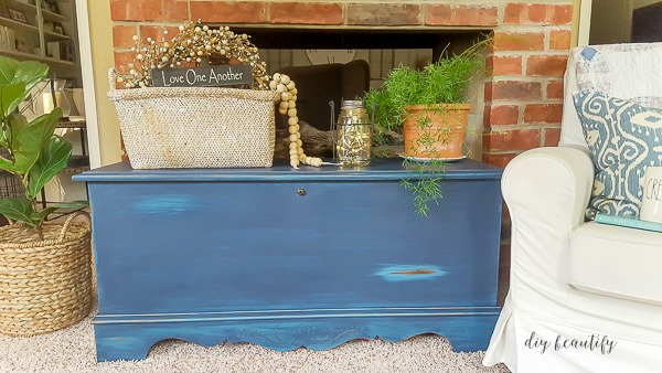 painted and distressed chest