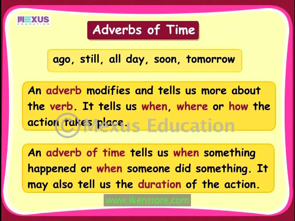 Edublog Efl Adverbs Of Time