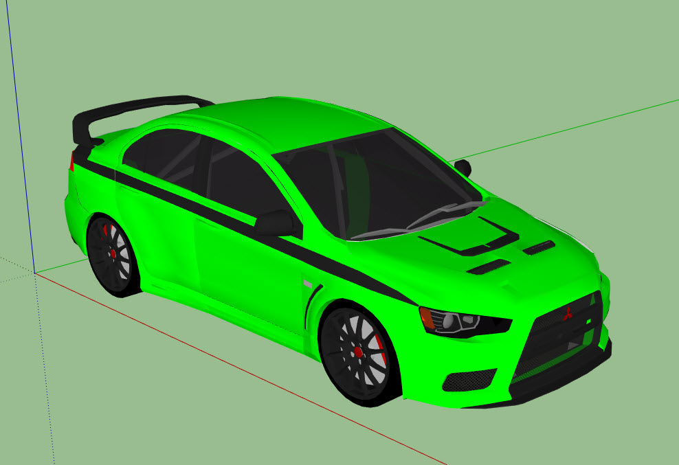 mitsubishi evo | 3D Model download free from 3dwarehouse