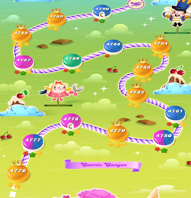 Candy Crush Saga level 4776-4790