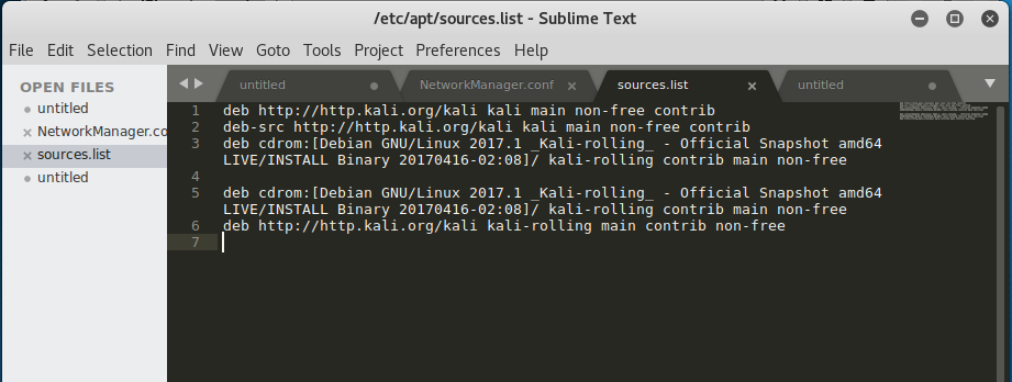 Solved: Configure Kali Linux mirrors after offline installation - It
