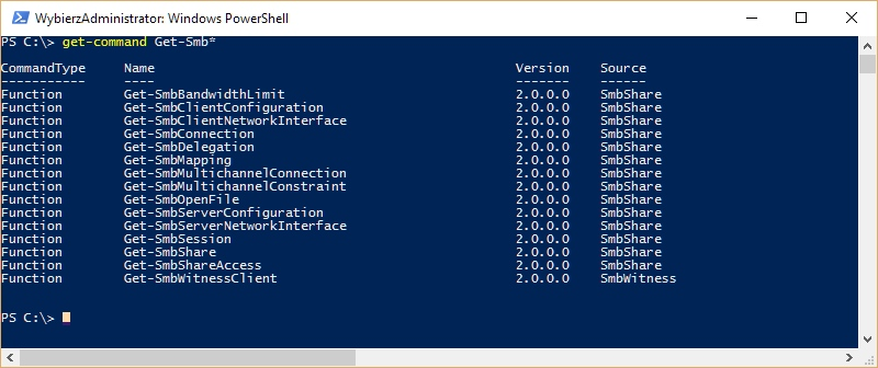 Windows PowerShell Get-Command