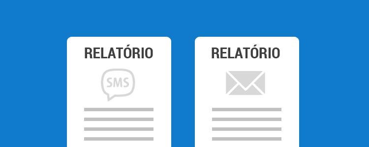 Relatório de envios de SMS e email no Sistema de Cobrança CEDRUS
