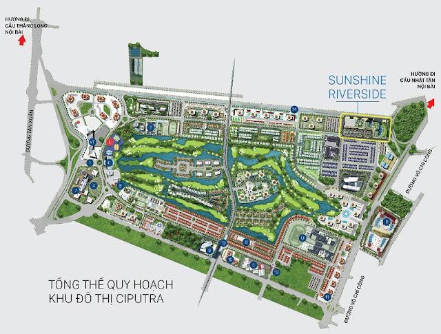 Vị trí dự án Sunshine Riverside trong khu đô thị Ciputra