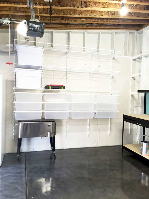 How to install garage shelving and drawers Elfa Container Store