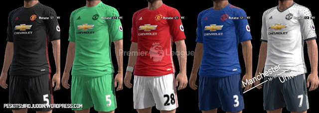 PES 2013 Manchester United Kit Season 2016-2017
