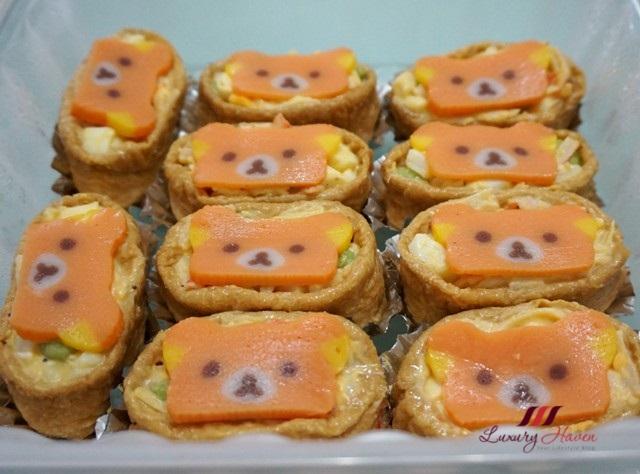 kawaii rilakkuma inari sushi recipe