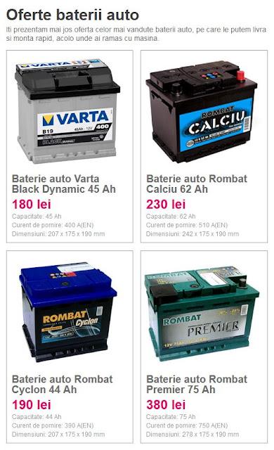 Oferte baterii auto