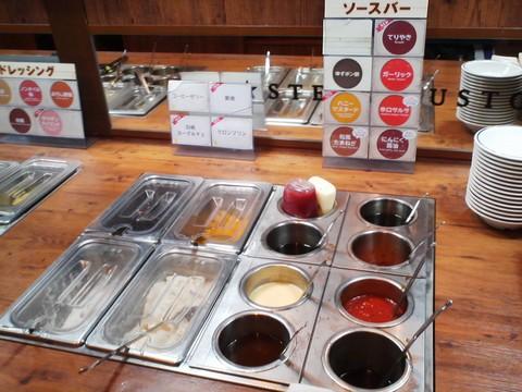 ビュッフェコーナー:デザート・ソース1 ステーキガスト一宮尾西店12回目