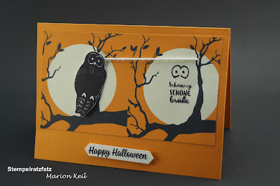 Halloween 2017 - Seilbahnkarte Eule mit Stampin´ Up!