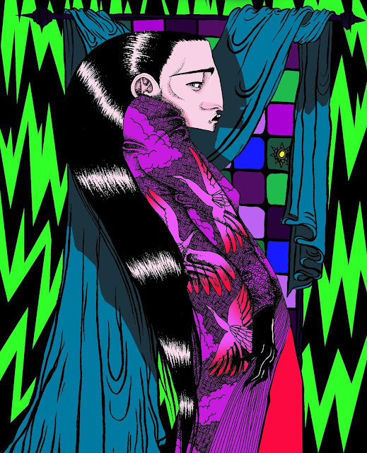 Long Hair illustration - In Colour
