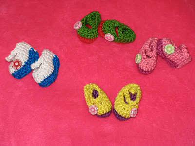Cute crochet Mary Jane shoes