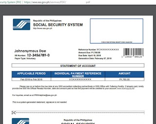 SSS PRN Payment Reference Number for Members and Employers