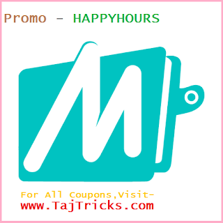 Mobikwik HappyHours Offer - Flat 9% Cashback Between 2 PM - 5 PM