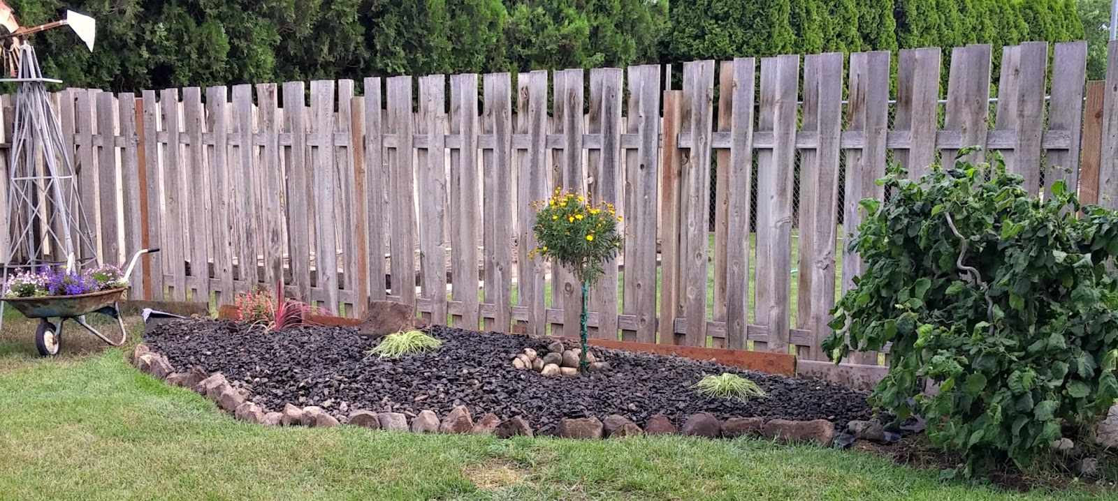 ... The Fence Will Get Moved But It Will Have To Wait Until I Fix Up My  Fence First Otherwise My Neighbor Will End Up With Some Of My Rocks In Her  Yard!