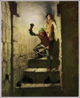 Painting from The Black Arrow by N.C. Wyeth