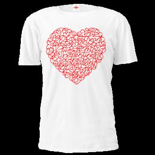 Curly love valentine tshirt