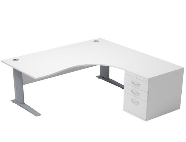best buy white corner office furniture for sale online