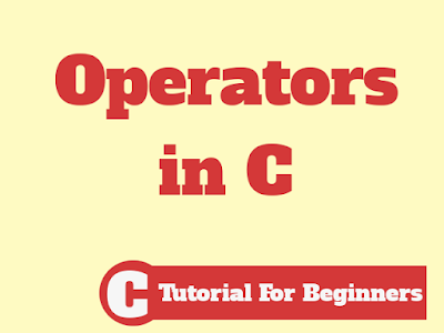 Different Type Operators in C