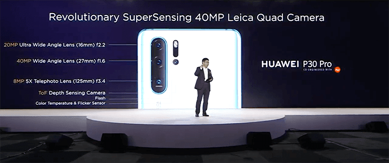 Huawei P30 Pro camera specs