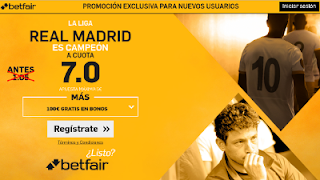 betfair supercuota 7 Real Madrid campeon Liga 21 mayo