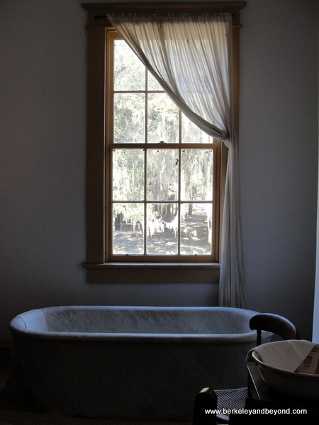 bathroom at Destrehan Plantation in Destrehan, Louisiana