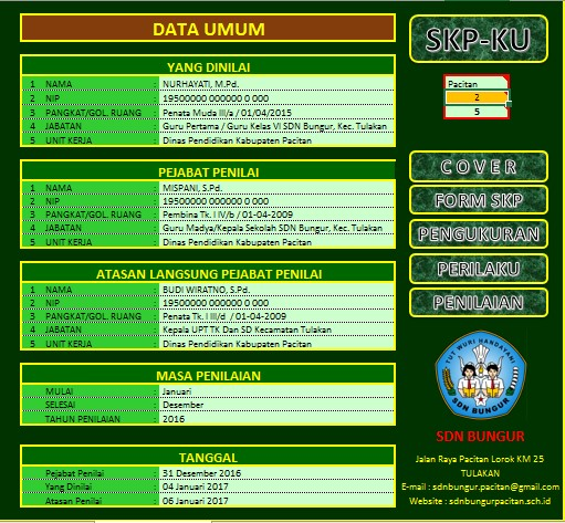 Aplikasi SKP 2017 Final Format Baru dan Lengkap
