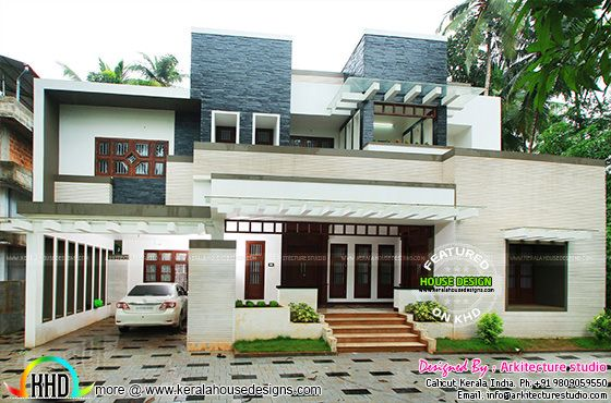 5000 sq ft house work finished kerala home design and for Modern house ep 9
