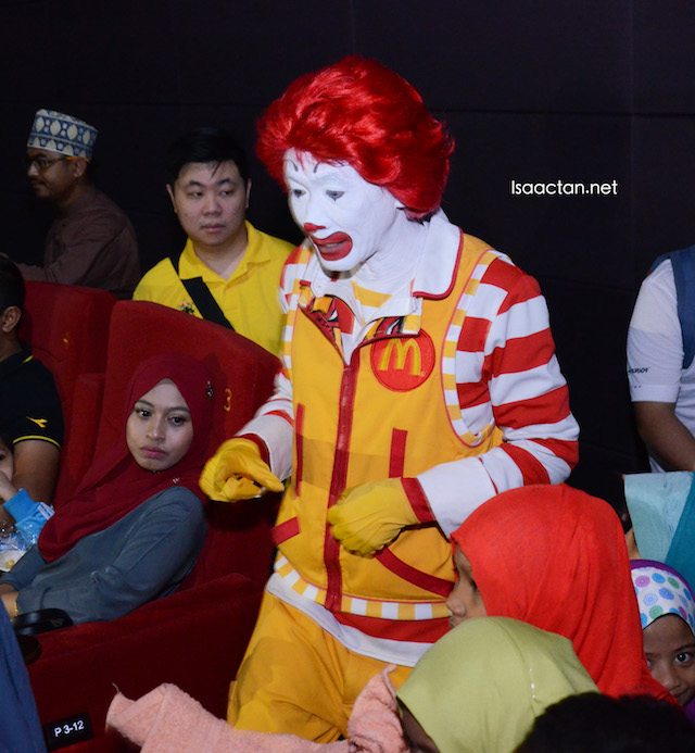In the cinema, the children from the homes were beaming with delight, thanks to Ronald McDonald