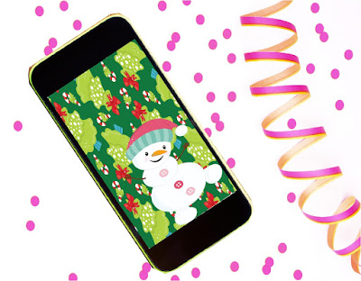 Decorate for Christmas this season with these free phone Wallpapers to keep you in the Christmas Spirit.  Choose one of 4 Christmas Wallpapers or grab all four and use a new one each week!