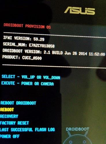 Atasi Bootloop dari Mode Droidboot Asus Zenfone 4
