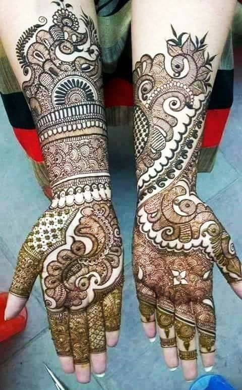 Bridal Mehandi Designs for Hands 12
