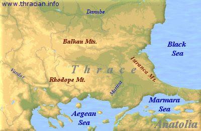 Spaţiul geografic pentru Tracia este în mod deosebit în Munţii Rodopi.