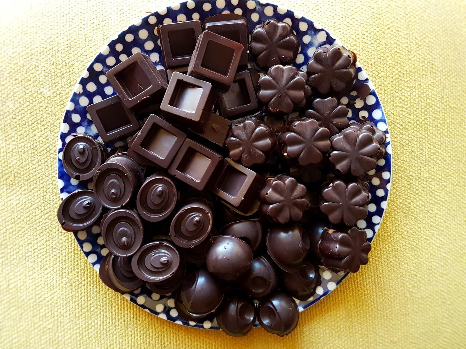 Bombons de chocolate para a Páscoa