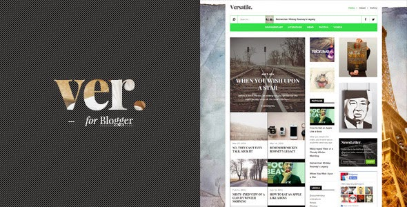 Versatile: A Worth Buying Magazine Blogger Template