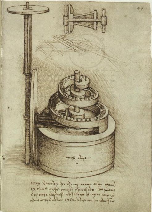 Spiral gear by Leonardo