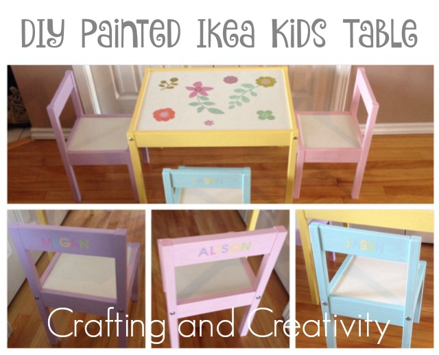 Crafting And Creativity Diy Painted Ikea Kids Table