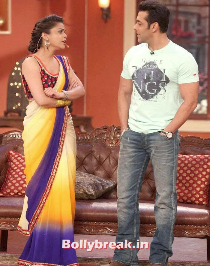 Ali Asgar, Salman Khan, Sumona Chakravarti Comedy Nights with Kapil Pics