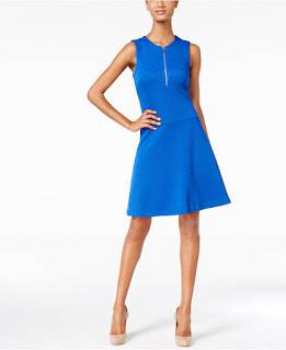 Calvin Klein Textured Fit & Flare Dress $40 (reg $130)