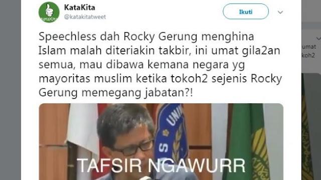 """Viral Video Rocky Gerung Tafsirkan Al-Baqarah 269 dengan """"Akal Sehat"""""""