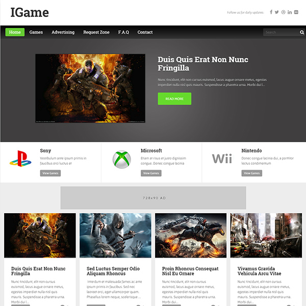 I game Blogger template