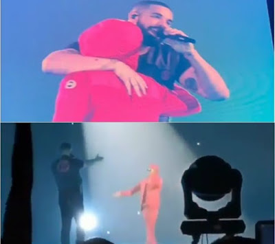 Drake Brings Out Wizkid To Perform Together At His O2 Arena Concert .